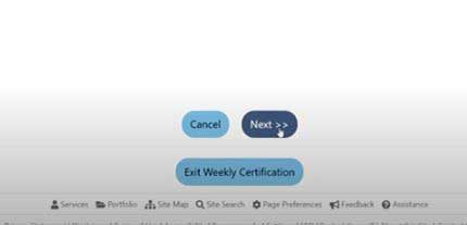 click next to continue you weekly claim certification in job4tn on tn unemployment