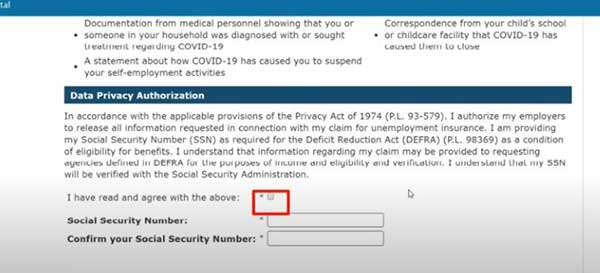 data privacy authorization information to apply for maryland pua