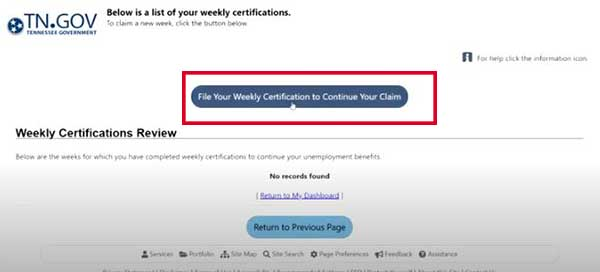 file your weekly certification to continue your claim on tn unemployment