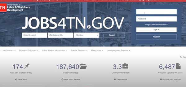 jobs4tn website to certify weekly claim on tn unemployment