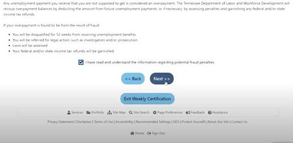 know the rules in job4tn on tn unemployment