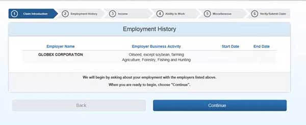 all employment history to file a new claim on indiana unemployment insurance