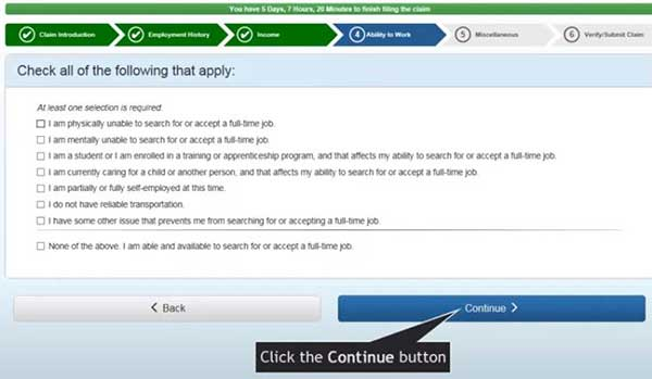 check all of the following that apply in ability to work on indiana unemployment insurance