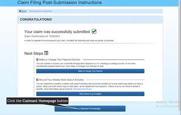 claim filing post submission instructions to file a new claim on indiana unemployment insurance