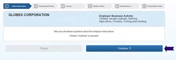 employer in employment history to file a new claim on indiana unemployment insurance