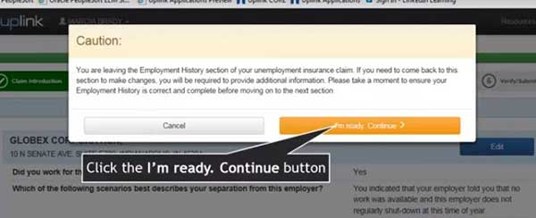employment history advice to file a new claim on indiana unemployment insurance