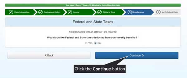 federal and state texas to file a new claim on indiana unemployment insurance