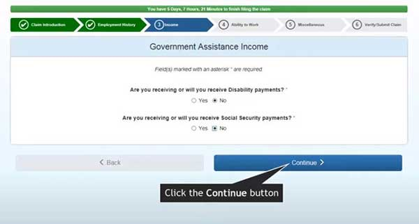 government assistance income to file a new claim on indiana unemployment