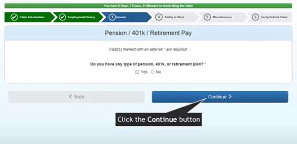 pension 401k retirement pay to file a new claim on indiana unemployment insurance