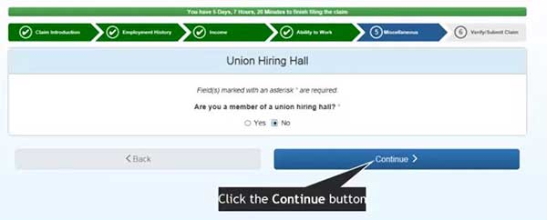 union hiring hall in miscellaneous to file a new claim on indiana unemployment insurance